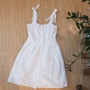 Rachel Roy white eyelet fit and flare dress